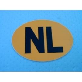 NL Sticker, geel.