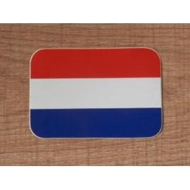 Sticker NL, Nederlandse vlag, afgerond.