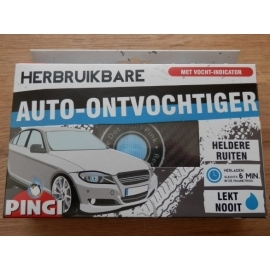 Pingi ontvochtiger voor in de auto met indicator.