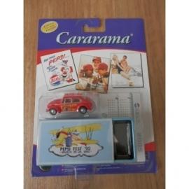 Pepsi Cola Kever rood , Cararama Limited Tin Box Edition.