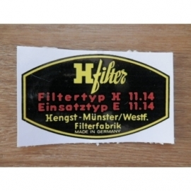 Sticker HENGST filter.