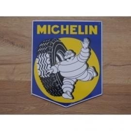 Michelin, blikken plaat, 26 x 21 cm.